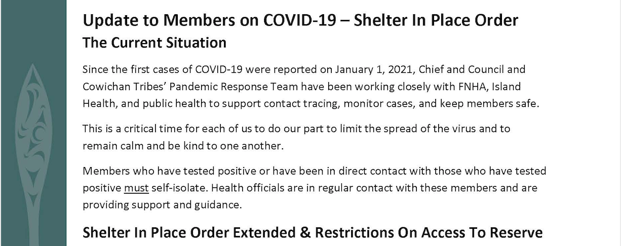 Shelter In Place Order - Extended to February 5
